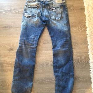 Straight leg silver jeans